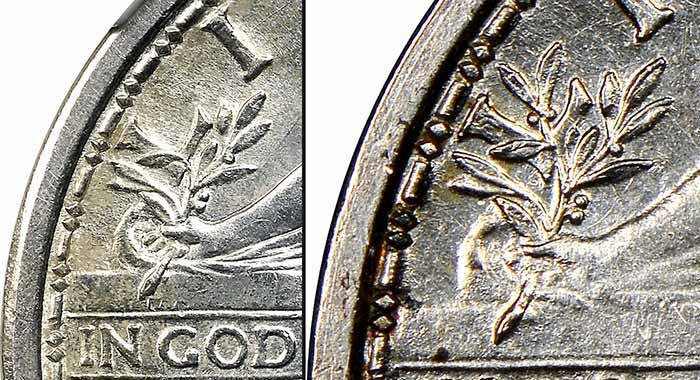 1916 Standing Liberty Quarter (Left) - J-1989 Pattern (Right)