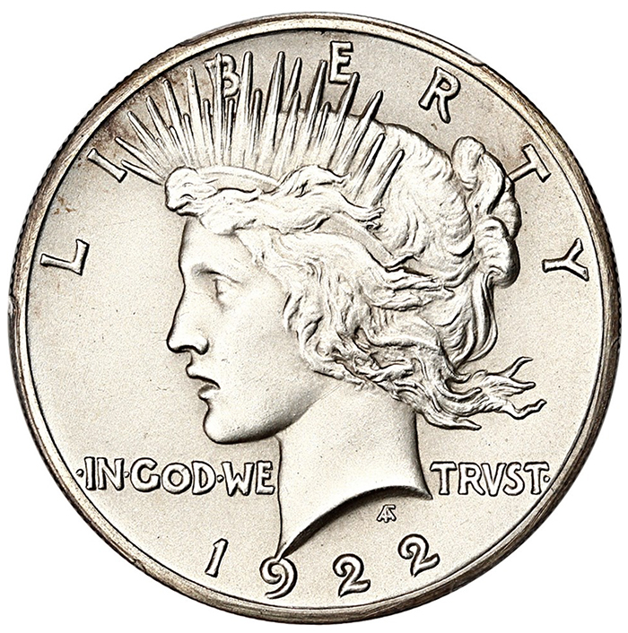 1922 Peace Dollar PF66 Matte Proof