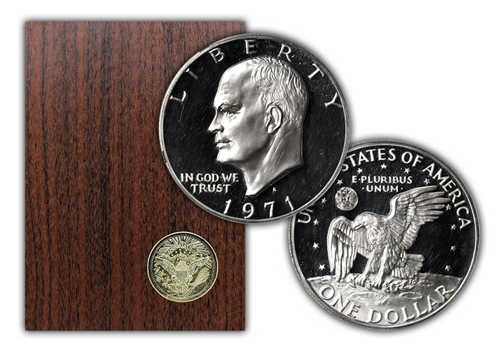 1971-S Eisenhower Dollar Proof - with Original Government Packaging