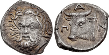 Scythian silver drachm struck after c.350 BCE, Panticapaeum. Images courtesy NGC