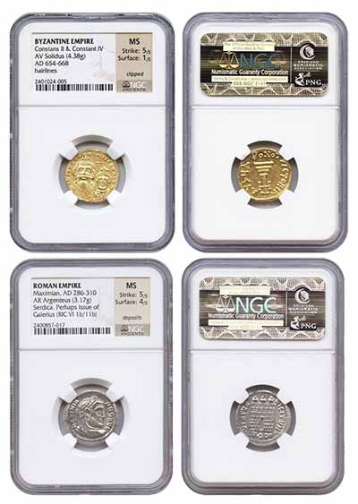 NGC Graded Ancient Coins