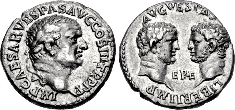 Silver denarius of Mauretania with King Juba II (25 BCE - 23/4 CE) and Queen Cleopatra Selene. Images courtesy NGC
