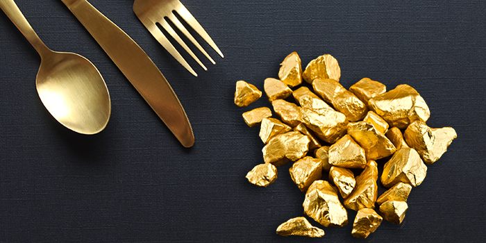 eating gold