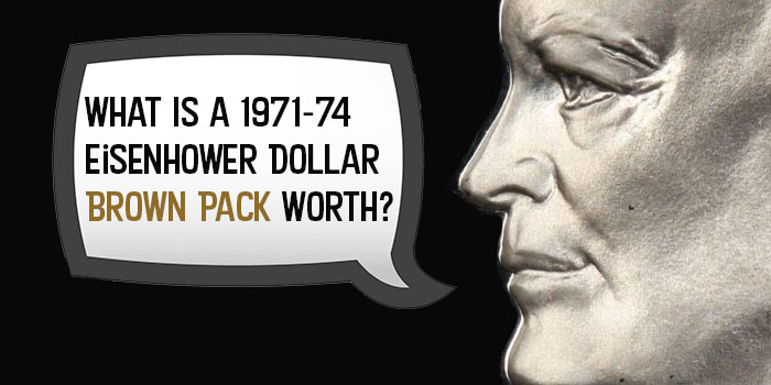 Eisenhower Dollar Brown Pack