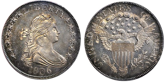 Finest Known 1806 O-123 Bust Half Dollar Featured in Stack's Bowers ANA Auction