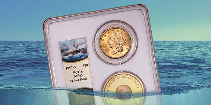 SS Central America - PCGS - 1857-S $20