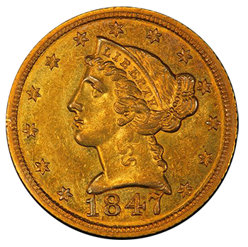 1847 Half Eagle - Milas Collection
