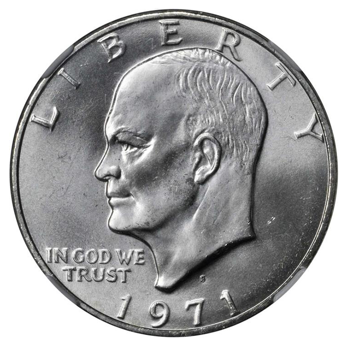 BU 1974-S CLAD PROOF EISENHOWER DOLLAR**VERY NICE** NOT SILVER