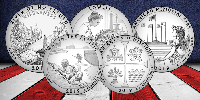 2019 America the Beautiful quarter designs