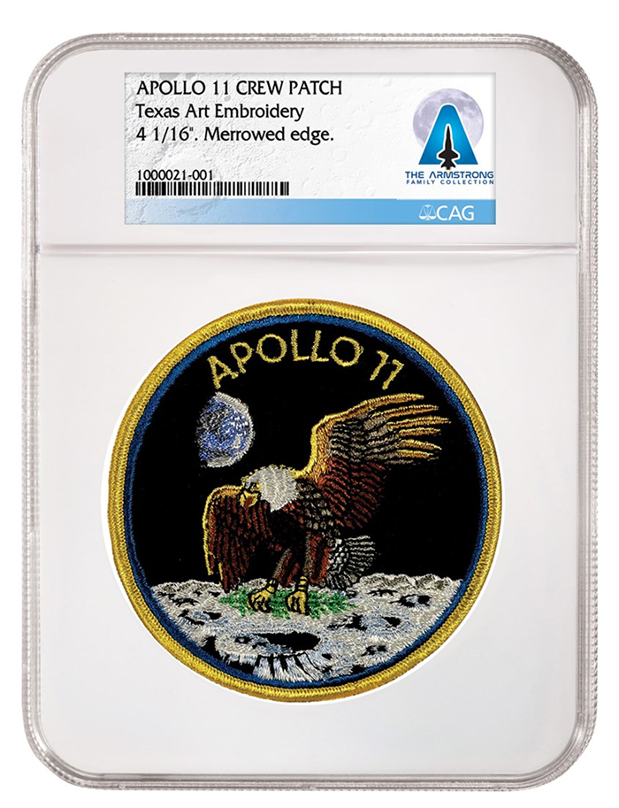 Apollo 11 Crew Patch, certified by CAG.