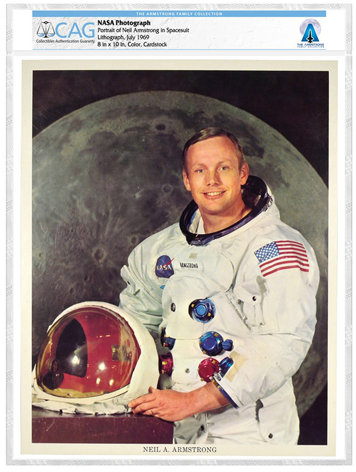 NASA Photograph of Neil Armstrong, from the Armstrong Family Collection and certified by CAG.