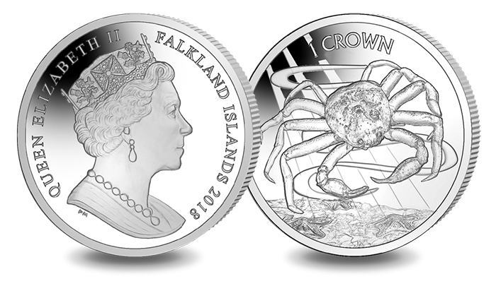 2018 Falkland Islands Crab Crown Cupro Nickel Version