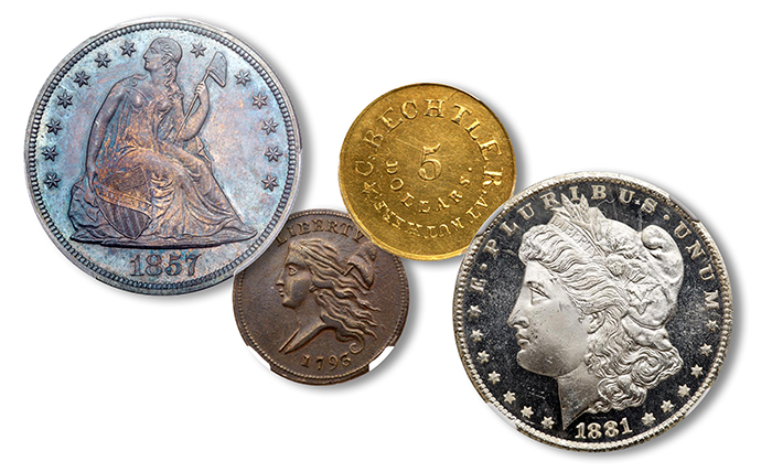 U.S. Coin highlights - Goldberg Auctioneer's September 2018 Pre-Long Beach Auction