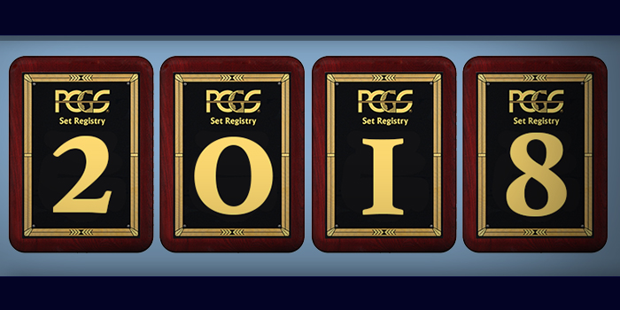 PCGS 2018 Set Registry Awards