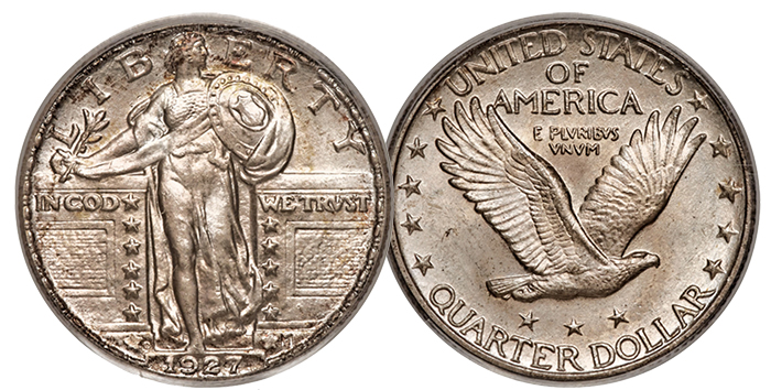 1927 Quarter MS66FH CAC