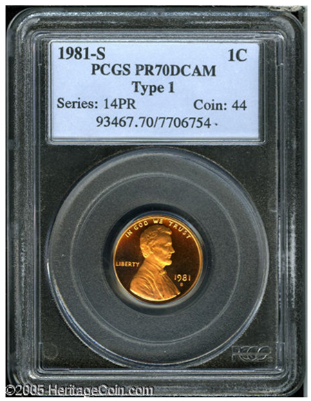 Top Pop 1981-S Lincoln Cent Set to Bring $1,000+ at