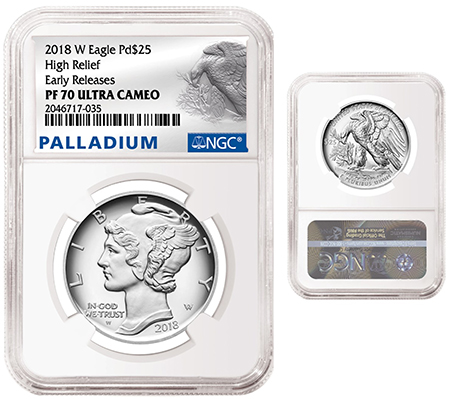 2018-W Eagle Pd $25 - Palladium NGC PF70 Ultra Cameo