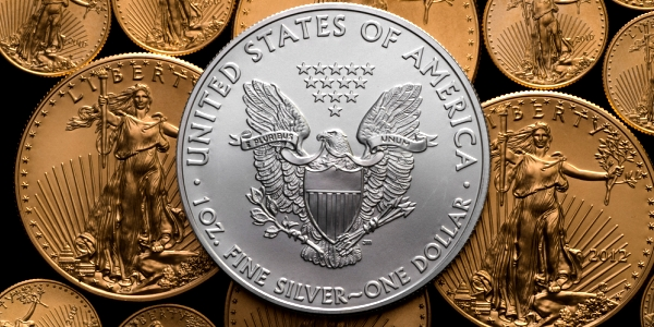 gold and silver coins and bullion.