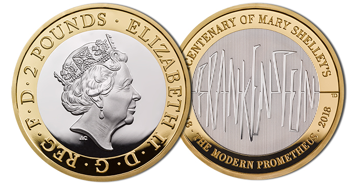 Frankenstein £2 Coin in Proof