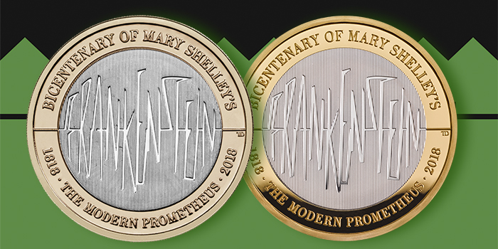 Royal Mint - Frankenstein Bicentenary of Mary Shelley's Modern Prometheus