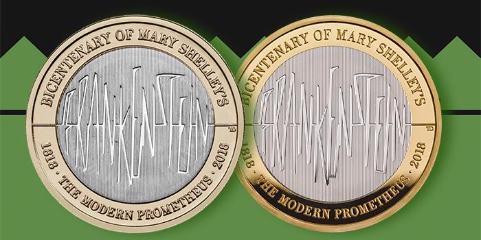 Royal Mint - Frankenstein Bicentenary of Mary Shelley's Modern Prometheus