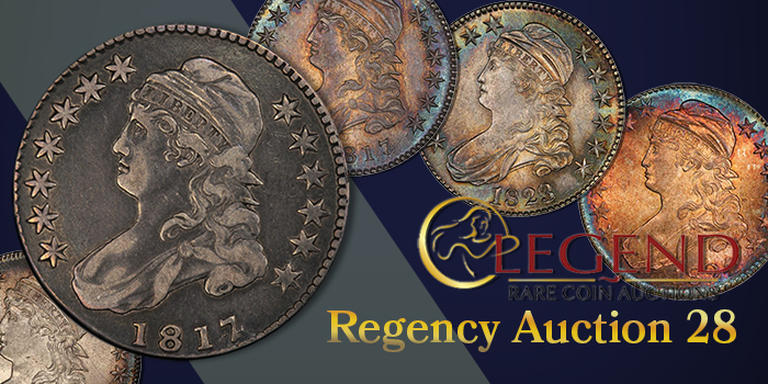 Legend Rare Coin Auctions - Regency 28 Sale - Capped Bust Half Dollars