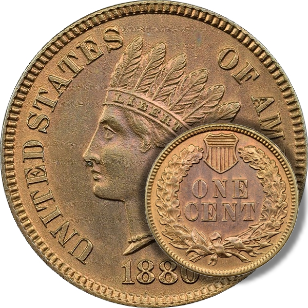 Whizzed Indian head cent
