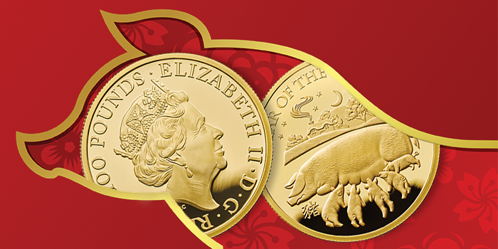 Royal Mint Year of the Pig 2019 Gold Coin