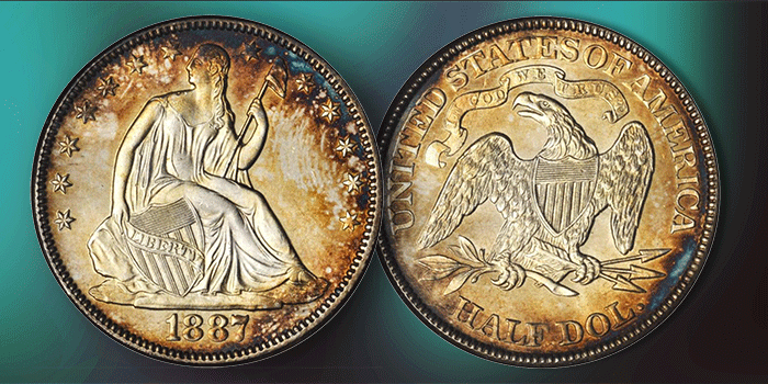 Coin Profile: United States 1887 Liberty Seated Half Dollar
