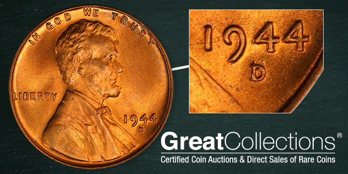 1944-D/S Lincoln Cent Variety GreatCollections