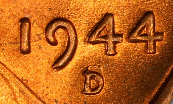 1944-D/S Lincoln Cent closeup