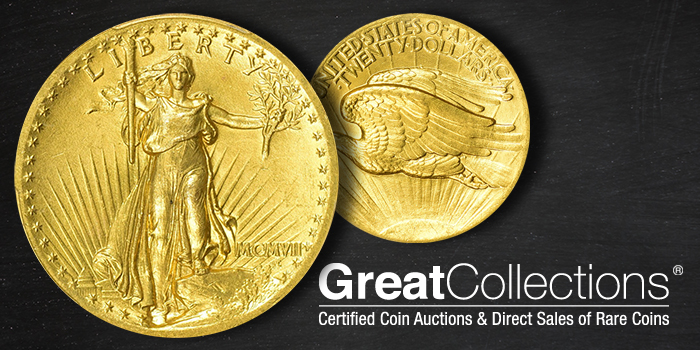 1907 Saint Gaudens $20 Gold coin to sell at GreatCollections
