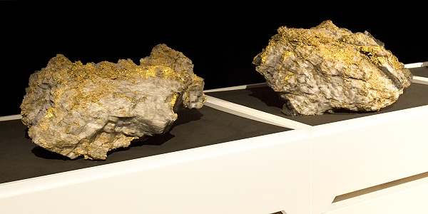 Gold Quartz Rock Specimens