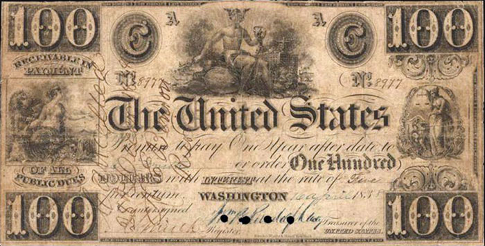 $100 United States Note - Anderson Collection - Currency Auction