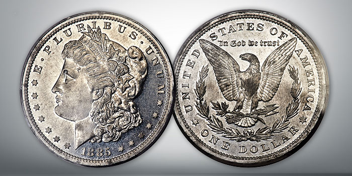 1885 Morgan Dollar Aluminum Pattern