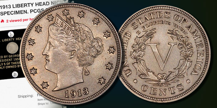 Million Dollar Coin Watch: Walton 1913 Liberty Nickel on eBay