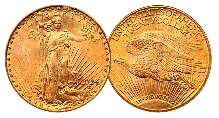 1924 Saint Gaudens Double Eagles