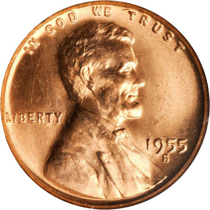 Lincoln Cent 1955-S