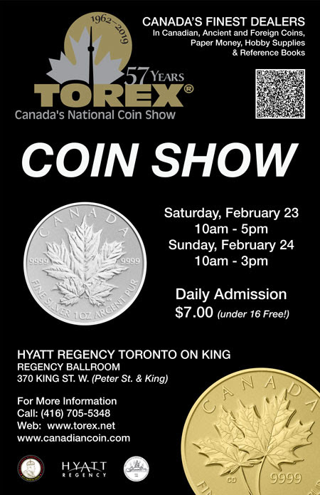 TOREX coin show February 2019