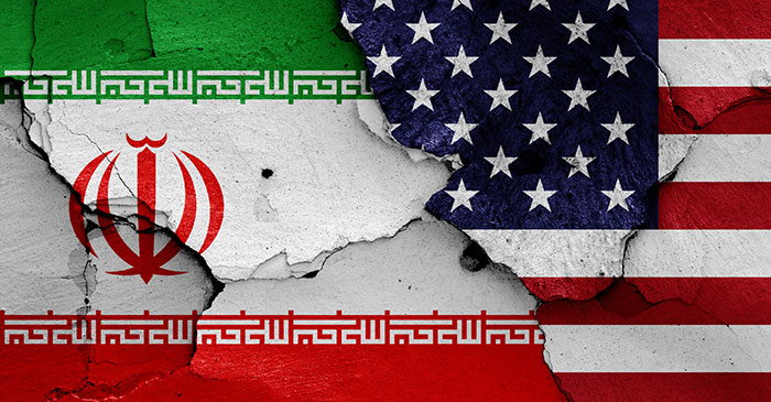 Iran USA Flag