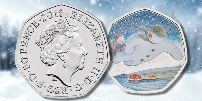 2018 United Kingdom 50 Pence Snowman