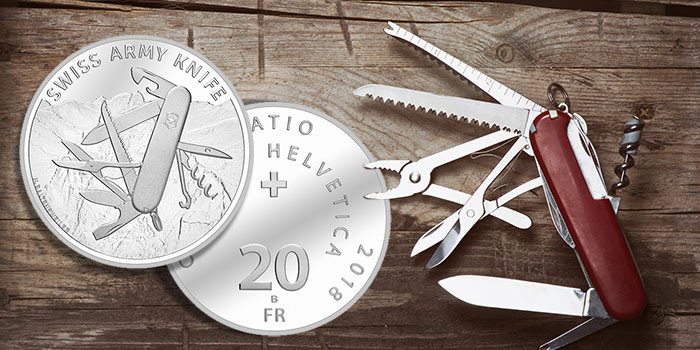 Swiss Mint New Commemorative Coins Swiss Army Knife