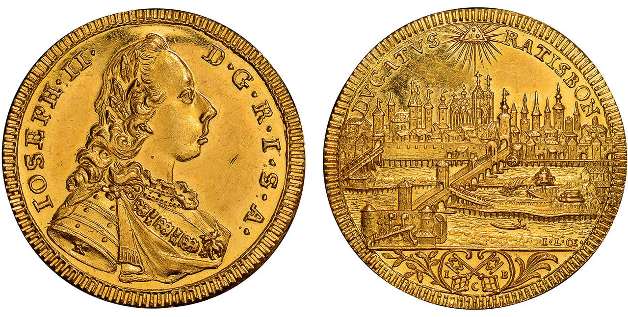GERMAN STATES. Regensburg. (1765-90) AV Ducat. Images courtesy Atlas Numismatics