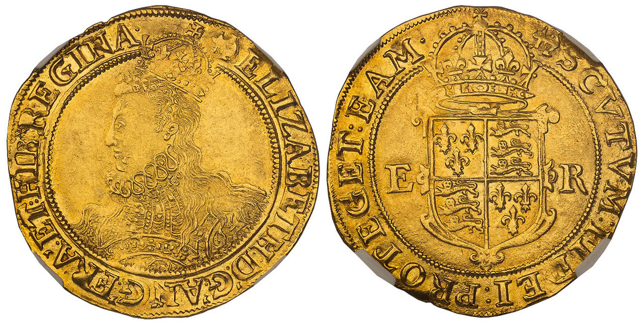 GREAT BRITAIN. England. Elizabeth I. (Queen, 1558-1603). (1598-1600) Anchor AV Pound. Images courtesy Atlas Numismatics