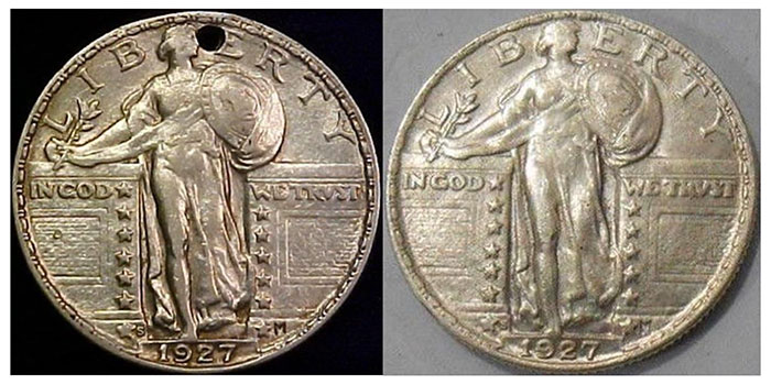 Probable Source example #1 and raw example #4 Obverse