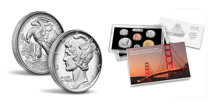 2017 2018 S Jefferson Nickel Reverse Proof and Enhanced BU from Mint Proof Set