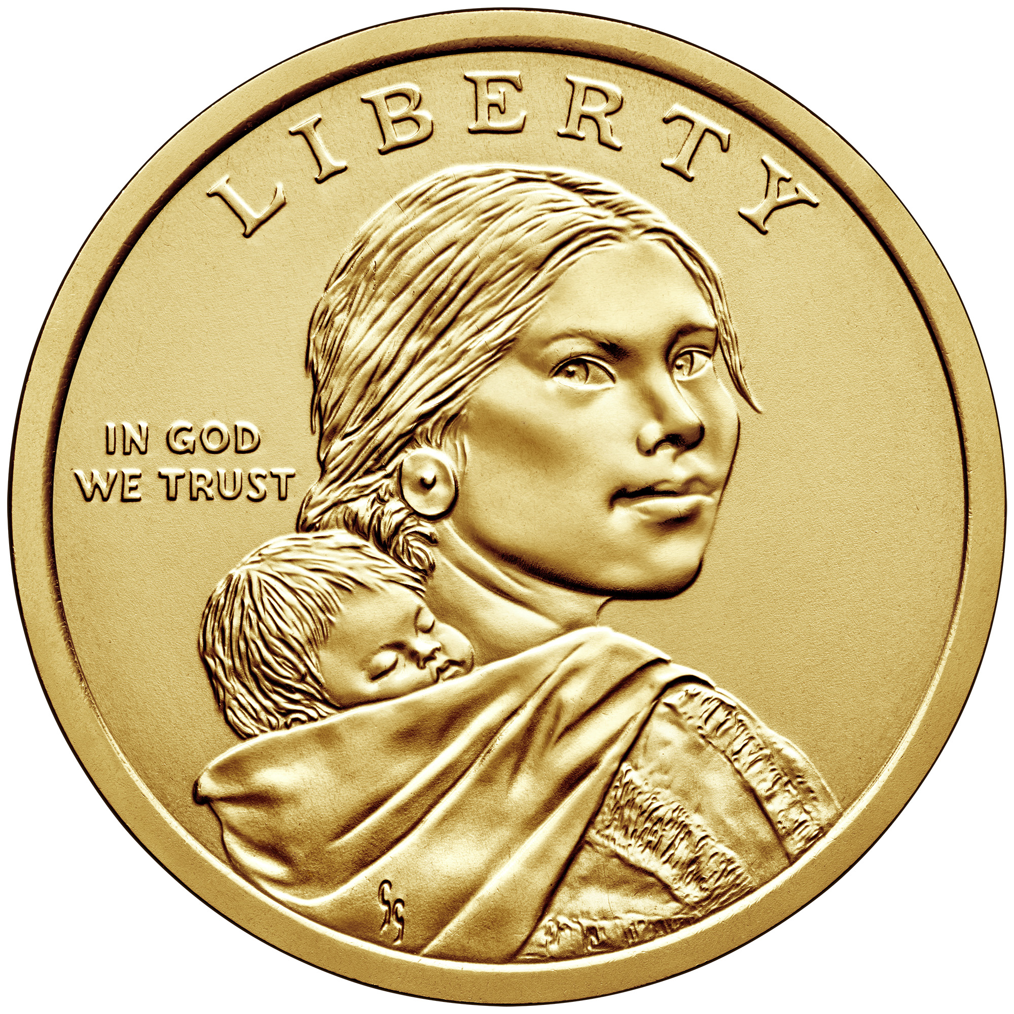 Obverse, 2019 Native American $1 golden coin. Image courtesy US Mint