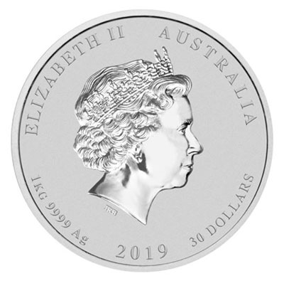 Year of the Pig 2019 Perth Mint - Obverse