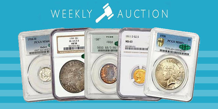 David Lawrence Rare Coins - Sunday Internet Auction #1042