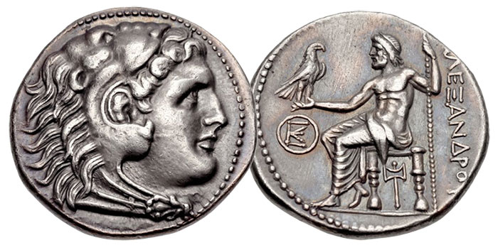 A tetradrachm of Alexander the Great